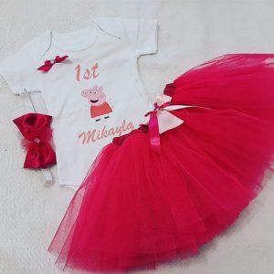 Personalised Pepper Pig Set- Cerise Pink