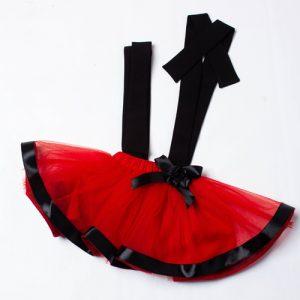 Suspender Skirt (Red)