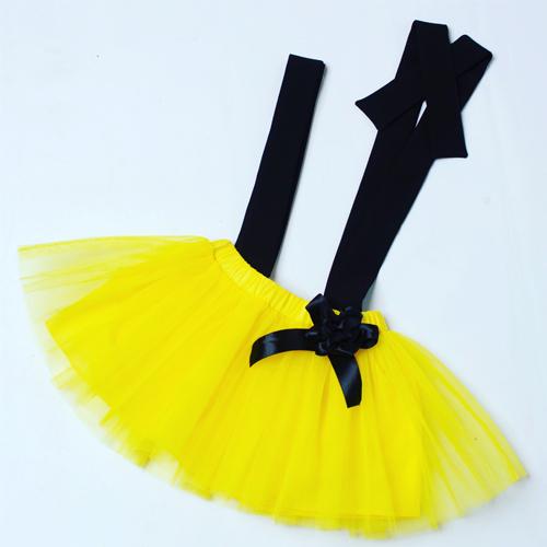 Suspender skirt (Yellow)