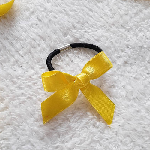 Yellow Ribbon Hair Elastic Bands